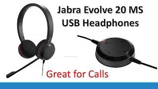 Jabra GN Netcom Evolve 20 UC Duo MS Optimized, USB Headband