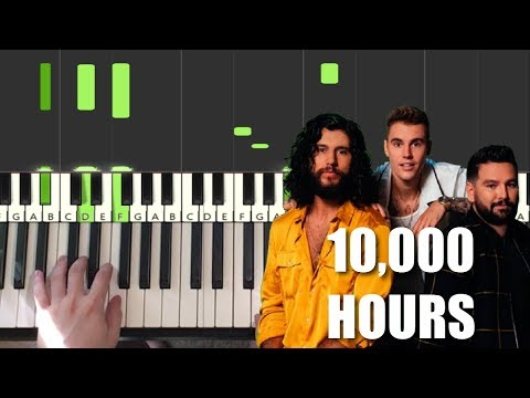Dan + Shay, Justin Bieber - 10,000 Hours (Piano Tutorial Lesson)
