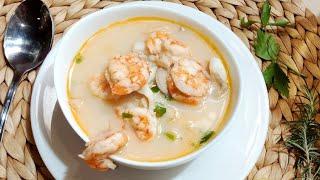 شوربة السي فود بأسرار المطاعم ????❤ من مطبخي #فاطمه_ابو_حاتي ???? تحميل MP3