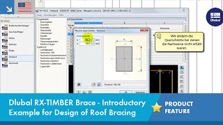 Dlubal RX-TIMBER Bracing - Introductory Example for the Design of a Roof Bracing