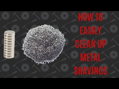 Clean Up Metal Shavings With A Magnet Inside A Plastic Bag