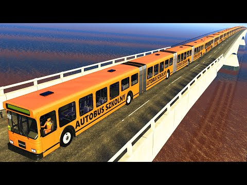 Articulated Bus Crashes #14 BeamNG DRIVE CrashTherapy
