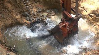 Major water disruption following burst pipe in Sierramas