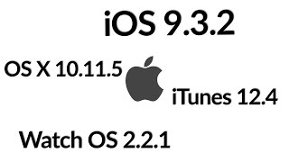 Software Updates |  iOS 9.3.2, Watch OS 2.2.1, Mac OS X 10.11.5, iTunes 12.4  [Review]