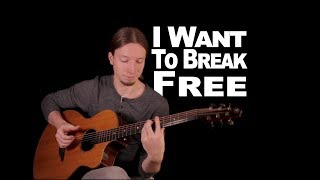 """Video thumbnail of """"I Want To Break Free by Queen   Acoustic Fingerstyle Guitar"""""""
