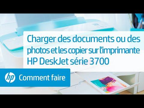 Charger des documents ou des photos et les copier sur l'imprimante HP DeskJet série 3700