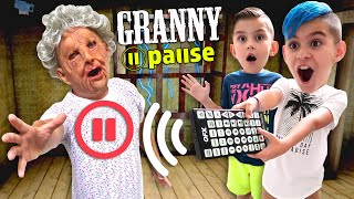 Pause Challenge On GRANNY IN REAL LIFE! Can We Escape In One Day Using The Pause Remote?