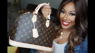Whats In My Vintage LV Alma Bag | MakeupMesha