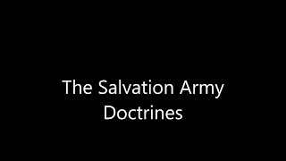 The Salvation Army Doctrines   USW Cadets