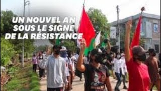 En Birmanie, le nouvel an se transforme en journée d'action contre la junte militaire thumbnail