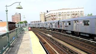 preview picture of video 'MTA NYC Subway Bombardier R142 #6660 on the (5) Eastchester bound departing Simpson Street'