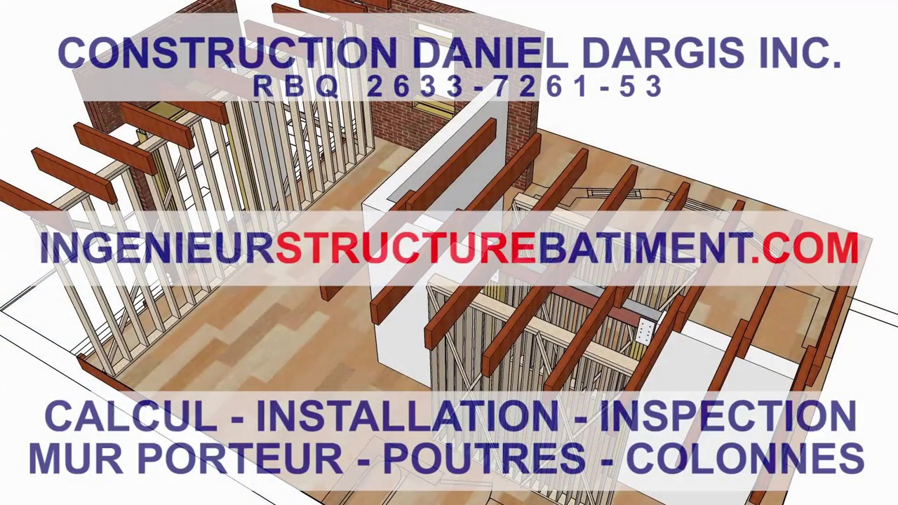 calcul structure poutre colonne mur porteur dargis