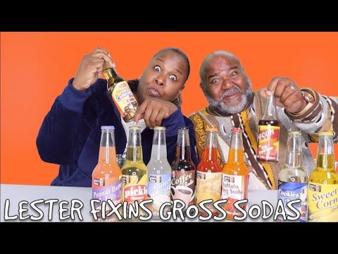GROSS SODA CHALLENGE! LESTER FIXINS BIZARRE SODA'S- FT MAMA BRI & DADDY D