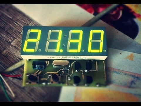 Часы на светодиодных матрицах с драйверами max одноламповые часы.