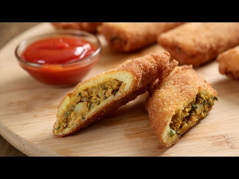 Chicken Kheema Bread Rolls | Popular Chicken Starter Recipe | Masala Trails