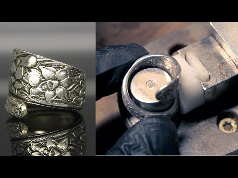 A very soothing tutorial about how a the craftsman makes a spoon ring