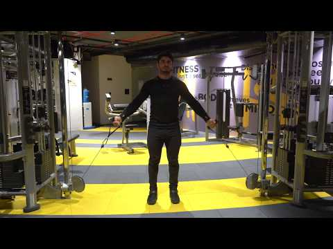 Cable Standing Incline chest fly