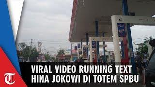 Viral, Video Running Text Hina Jokowi dan Megawati Muncul di Totem SPBU