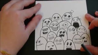 Easy Doodle for beginners - Doodle Monsters