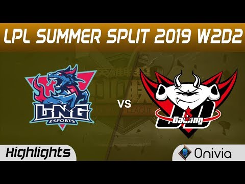 LNG vs JDG Highlights Game 3 LPL Summer 2019 W2D2 LNG Esports vs JD Gaming LPL Highlights by Onivia