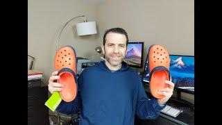 """Мужские сабо крокс крокбенд красный черный М13-30см Crocs Men""""s Crocband Clog спец обувь каралки - видео 1"""