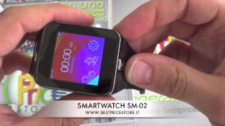 Android Smart Watch - Orologio Telefono Bluetooth mod. SM02 - www.bestpricestore.it