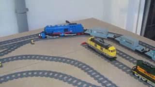 LEGO Dampflok BR96 Mallet und BR93 Strecke