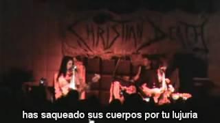 christian death We fall like love subtitulada