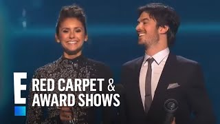 PCA for Favorite On-Screen Chemistry is Nina Dobrev and Ian Somerhalder | E! People's Choice Awards