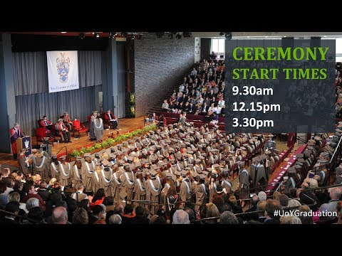 Winter Graduation 2018: Ceremony 3,  3.30pm Friday 19 January