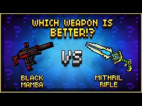 Pixel Gun 3D - Black Mamba VS Mithril Rifle
