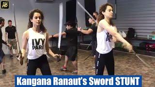 Kangana Ranaut's Real Life Sword STUNT For Manikarnika - Jhansi Ki Rani