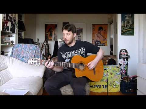 Mountains, Manowar Cover by Fred on Classical guitar