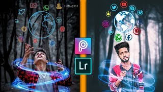 PicsArt NEON Social Icon Photo Editing // Creative Photo Editing // AC EDITING ZONE 🔥