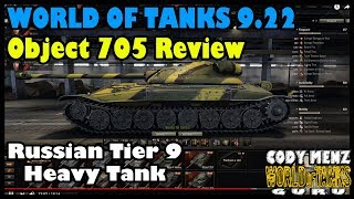 World of Tanks Object 705 Review | New Tier 9 Russian Heavy | World of Tanks 9.22 Update
