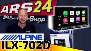 Alpine ILX-702D | 2-DIN Autoradio mit 1-DIN Gehäuse | DAB+, Apple CarPlay und Android Auto | ARS24
