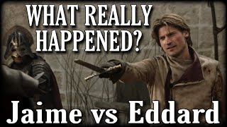Ned Stark vs The Kingslayer! - How It Happened In The Books? (A Song of Ice and Fire)