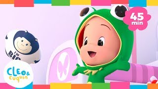 The frog sung - Cleo and Cuquin Nursery Rhymes to sing along. Karaoke for kids Collection(45min)