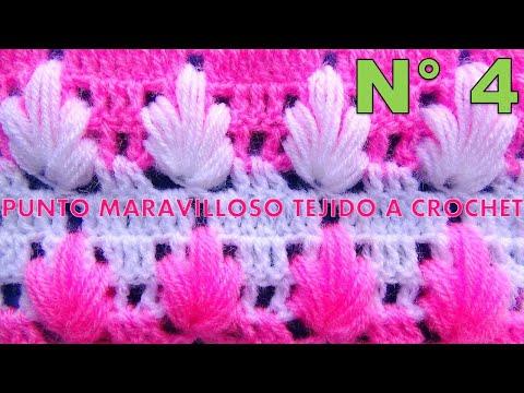 93ebe74bf Punto maravilloso tejido a crochet # 4 para tejer mantitas para bebe ...