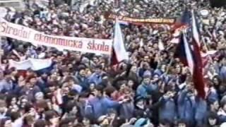 preview picture of video 'Břeclav 1989 - sametová revoluce 3.část'