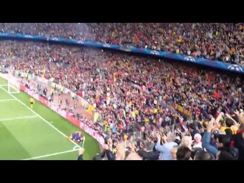 Messi 2nd goal vs bayern fanfootage