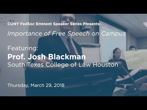 The importance of free speech on college campuses