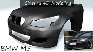 Tutorial how to model a car in cinema 4d starting from a cube cinema 4d car part detail modeling bmw m5 e60 malvernweather Images