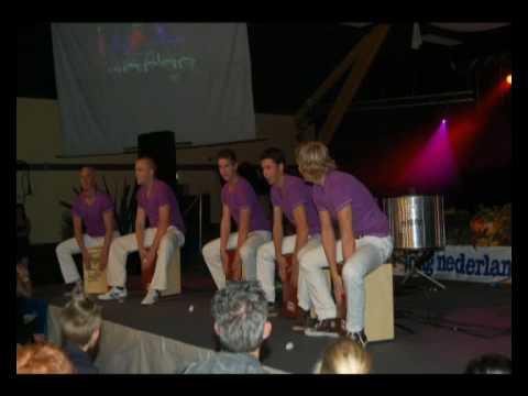 Diavoorstelling slagwerkgroep Vortum-Mullem op Drumpop 2009