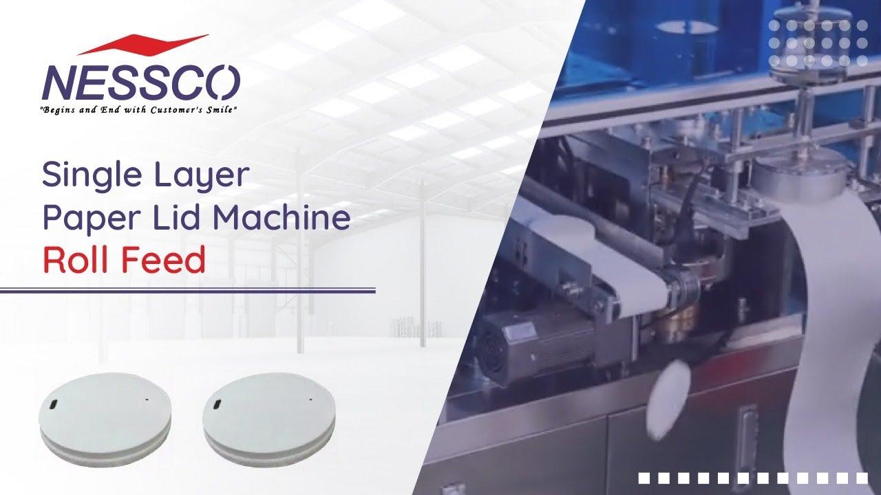 Single Layer Paper Lid Machine By Nessco   Nesscoindia