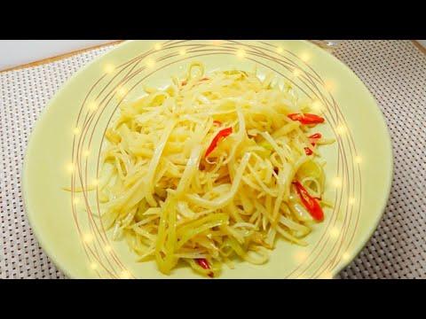 Stir fry potatoes recipe (Chinese appetizer)