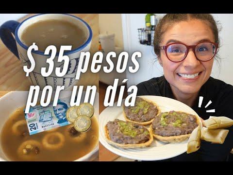 El Menú Completo De Un Día Con Solo 35 Pesos Mexicanos