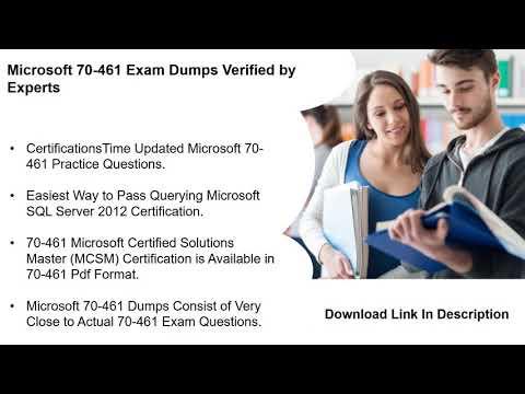 Get Valid 70-461 Exam Dumps PDF Questions | CertificationsTimes ...