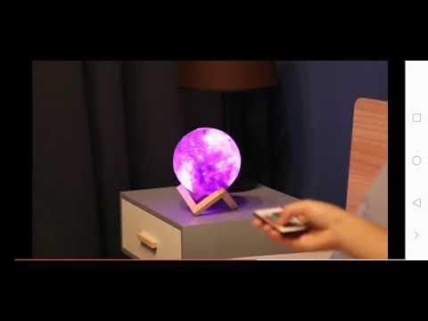 3D-printet månelampe