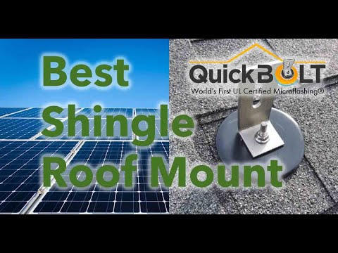 The Best Solar Roofing Anchors! (For a shingled roof)
